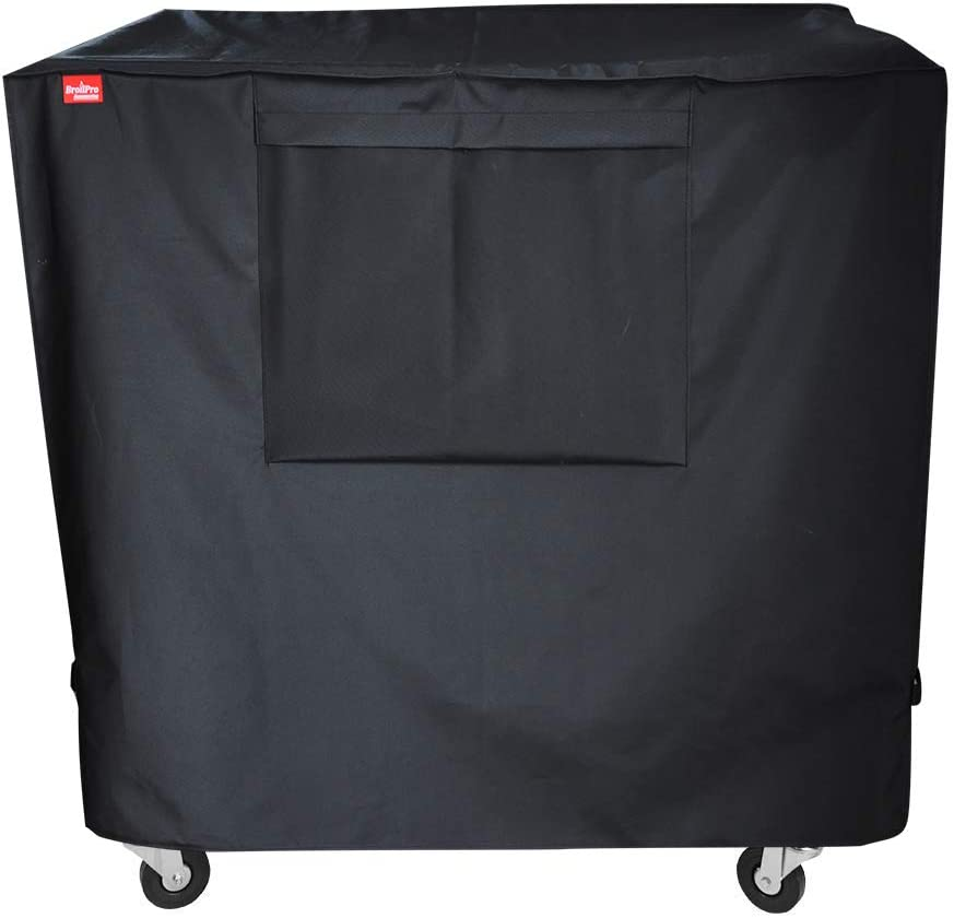 BroilPro Accessories Waterproof 80 Qt Rolling Cooler Cart Cover Fits Most Patio Ice Chest Party Cooler Upto 34L x 20W x 32H inch