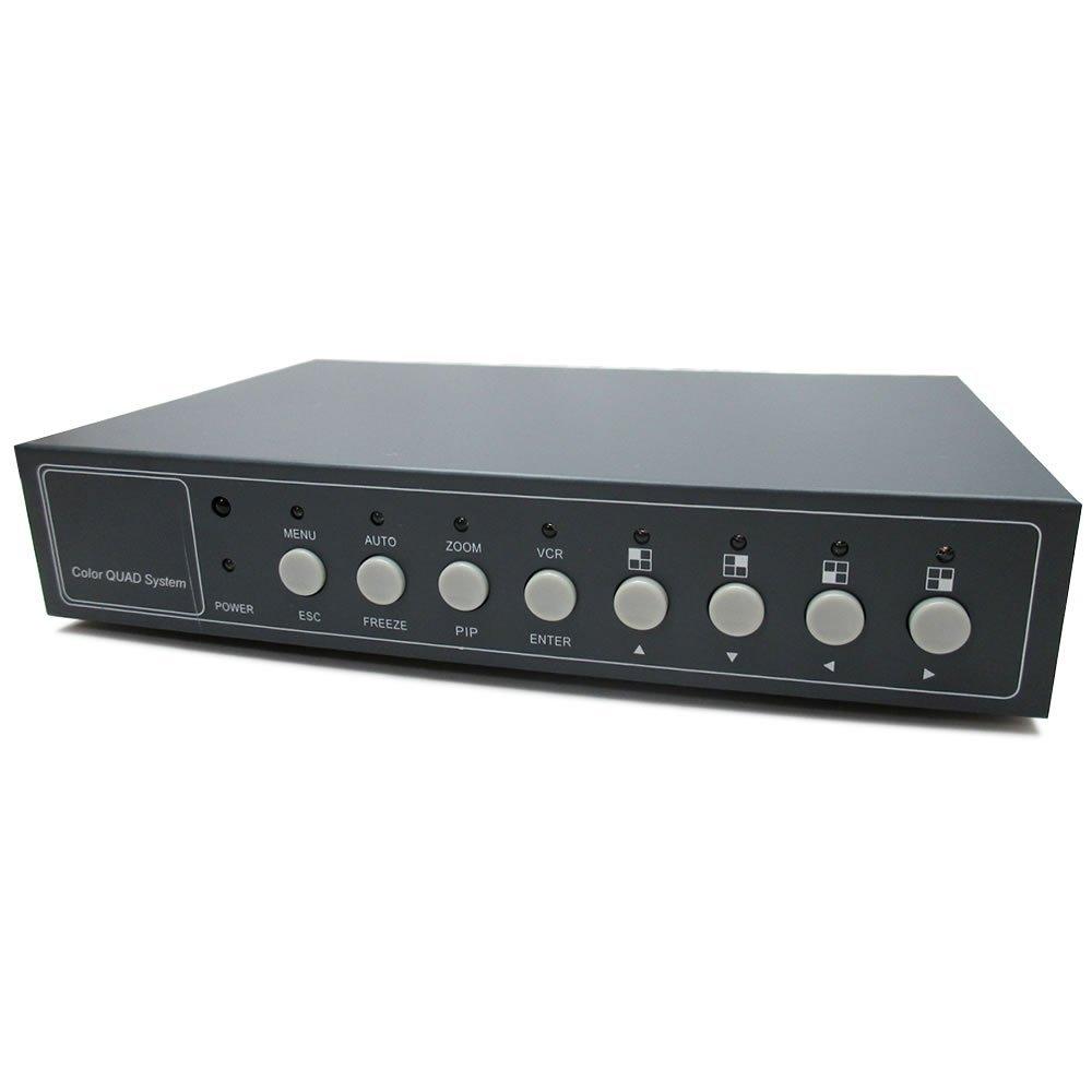 Broadwatch カラー画面分割器 4CH(1画面に4つのカメラを同時表示) B00A86WY4G  4CH