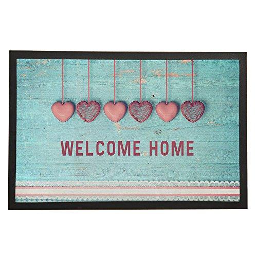 Asawood Doormat WELCOME HOME Anti-Slip Rubber Backed Indoor Entry Doormat 24