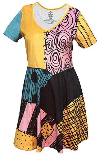 The Nightmare Before Christmas Juniors I Am Sally Velvety Rag Doll Cosplay Costume Dress