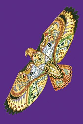 Toland Home Garden Animal Spirits Hawk 28 x 40 Inch Decorative Native Spiritual Flying Bird Wing House Flag