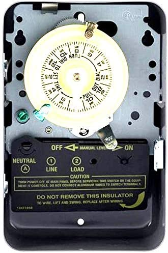 INTERMATIC E1010 Timer,Mechanical,120V,15A,Wall Switch