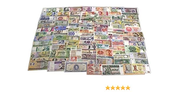 LOT 100 PCS different banknotes from 50 countries in the world//unc FREE SHIPPING