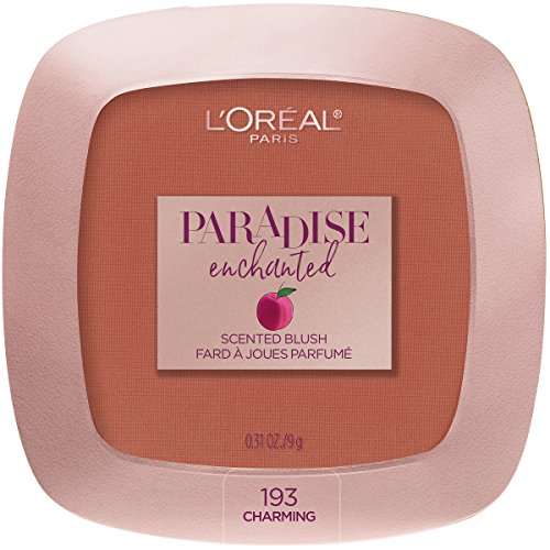 L'Oreal Paris Cosmetics Paradise Enchanted Fruit-Scented Blush Makeup, Charming, 0.31 Ounce (Scented Blush)