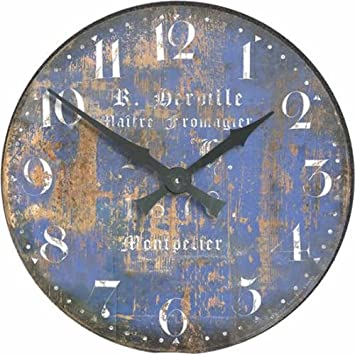 Roger Lascelles Fromage Montpellier Cheesemaker s French Wall Clock, 14.2-Inch
