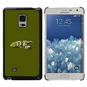 Paccase / SLIM PC / Aliminium Casa Carcasa Funda Case Cover - Fish Green Art Food Maki Art Minimalist - Samsung Galaxy Mega 5.8 9150 9152