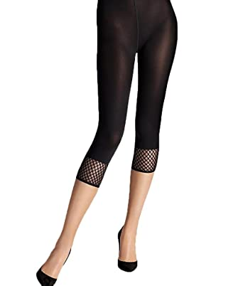 cff999e41e52c Wolford Janice Capri Footless Tights-Black-Medium: Amazon.co.uk: Clothing