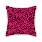 NICEPLW 18 x 18 inches / 45 by 45 cm leopard pillow cases ,double sides ornament and gift to home theater,kids girls,monther,dance room,seat