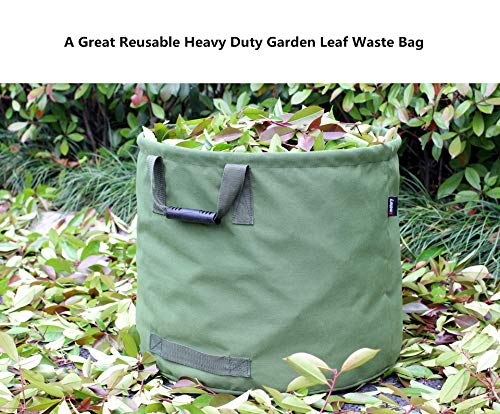 Amatory Garden Lawn Leaf Yard Waste Bag Clean Up Tarp Container Tote Gardening Trash Reusable Heavy  - http://coolthings.us
