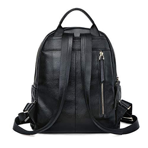 in Elegante pelle le borsa cerniera studenti da zaino per viaggio jybag nera borsa signore spalla anti donna furto da con zaino TTwrfaqx