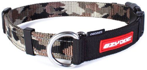 Ezydog Checkmate Collar, Extra Large, Green Camouflage