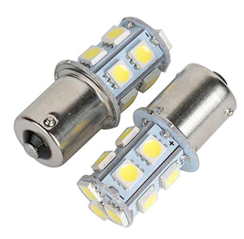 gegenueberliegende Pins /Luce/ Rosso/ /inion/® LED SILURO AUTO birnnen/ /Lampeggiante/ /Luce freno/ /Red 2/X BA15S 12/Volt Auto Lampade con 13/X Power di SMD