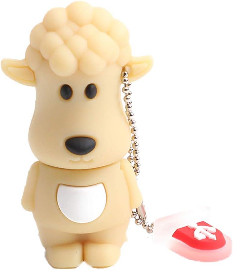 Qifumaer 8GB Novelty Cute Zodiac Sheep USB 2.3 Flash Drive High Speed Key Pen Drive Memory Stick Gift
