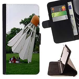 - Badminton Sport - - Monedero PU titular de la tarjeta de cr?dito de cuero cubierta de la caja de la bolsa FOR HTC Desire 820 Retro Candy