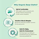 KiddyStar Organic Cotton, 5-Pack Baby Burp