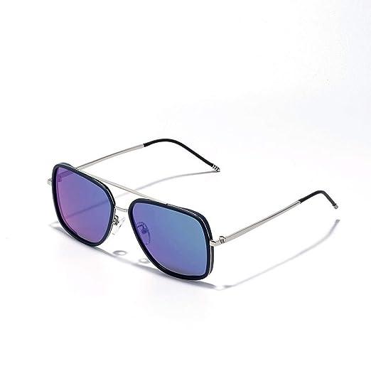 Wuxingqing Gafas de Sol polarizadas para Hombre Cuadradas de ...