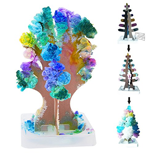 Newdanceus 1 Pack Magic Growing Tree Crystal Christmas Decoration Blossom Paper Tree Novelty Toys Gifts for Kids