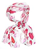 Women's Silky Feel Classic Holiday Scarf, 12'x60', Giftboxed (Valentine Sketch Hearts)