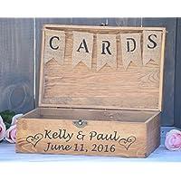 Rustic Wooden Card Box - Rustic Wedding Card Box - Rustic Wedding Decor - Large Wedding Card Holder - Card Box - Wedding Card Box
