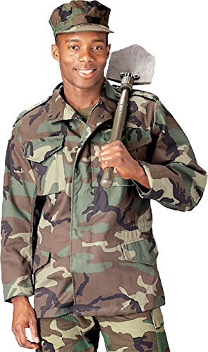 (Woodland Camouflage Military Field Coat Army Jacket)