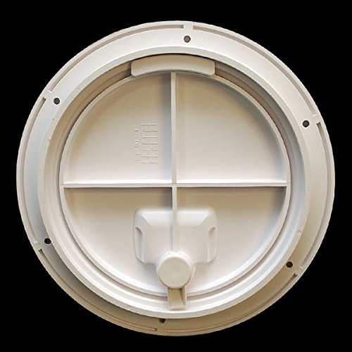 Jim Black Boat Deck Plate 587-8-02 | 8 Inch Amherst White