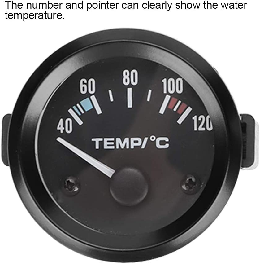 BiuZi Water Temperature Gauge Car 2inch 52mm LED Digital Universal Water Temperature Gauge Instrument Tool