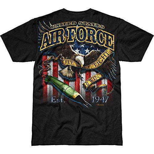 7.62 Design USAF Fighting Eagle Mens Battlespace T-Shirt,Black,XX-Large ()