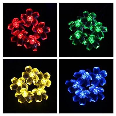 Ohuhu Solar String Lights/ Christmas Lights /Fairy Lights - 21 Feet, 50 LED, Multi-color