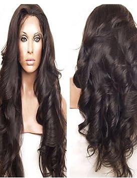 WORLD HAIR del frente del cordón del cabello humano ondulado pelucas pelucas baratas pelo virginal brasileño