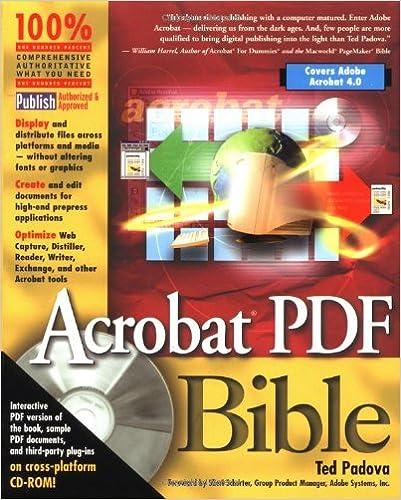 amazon com acrobat pdf bible 9780764532429 ted padova books