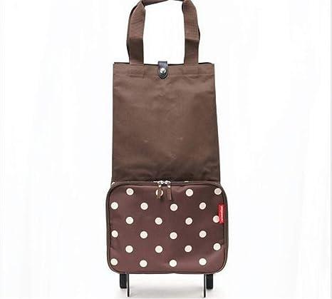 Plegables Trolley bolsas plegado bolsa de compras con ruedas ...