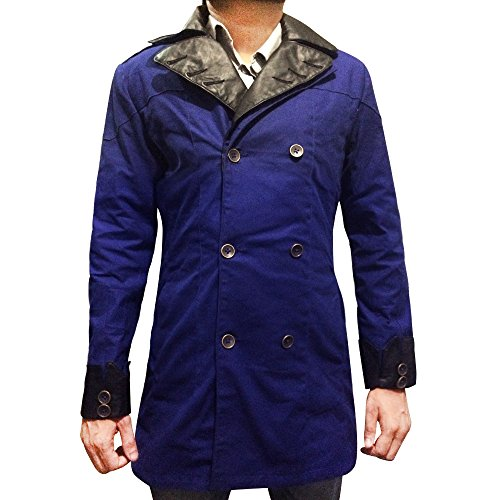 SALTONI Men's Stylish Winters Woolen With Real Leather Coat - New Arrival 2017 (XXS) Arno Leather
