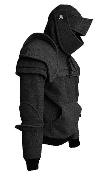 0142faca Amazon.com: Riekinc Medieval Knight Hoodie Jacket Cosplay Costume: Clothing
