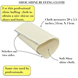 Professional Shoe Polish Kit. Buffing Cloth, Dauber Brush, Shoe polish. 3