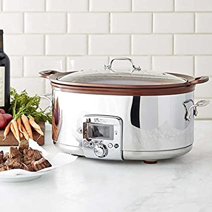 All Clad 7 Qt Gourmet Slow Cooker With All In One Browning