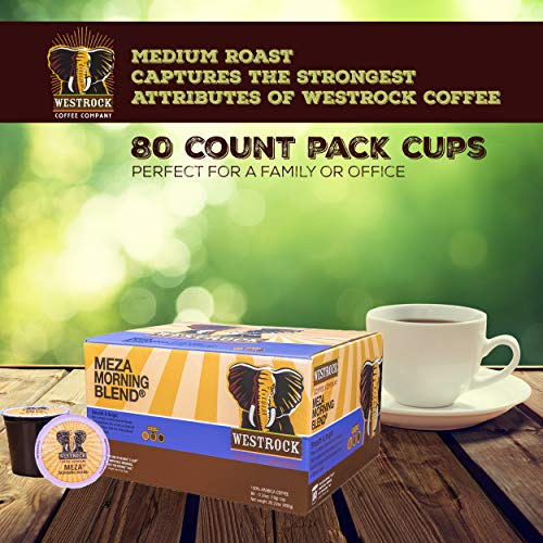 Westrock Coffee Company Meza Morning Blend Best Medium Roast Gourmet Single Serve Cup 80 Count by Westrock Coffee Company (Image #4)