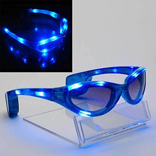 MAZIMARK--Colorful LED Light Up Glasses Blink Sunglasses Rave Party Xmas Supplies Hot - Blink Sunglass