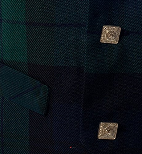 Boys Waistcoat, Silk Back Adjustable buckle Black Watch Tartan 2 year by iLuv (Image #2)