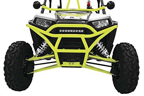 - 14-19 POLARIS RANRZR1000XE: Dragonfire Racing Racepace Front Bash Bumper (Lime Squeeze)