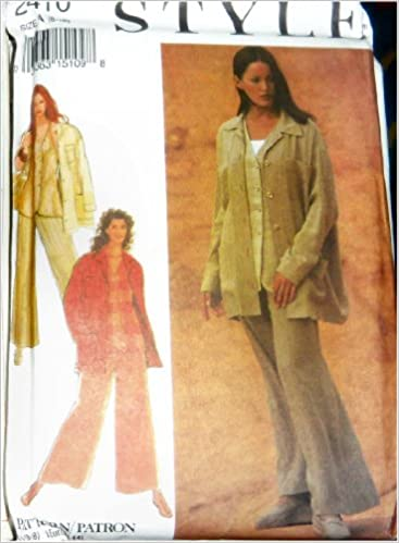 Style 2410 Paper Sewing Pattern For Loose Fitting Jacket Wide Leg