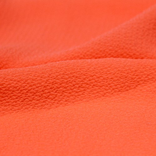 Coral Neon Bubble Crepe Chiffon Fabric Textured Chiffon (Bubbles Textured)
