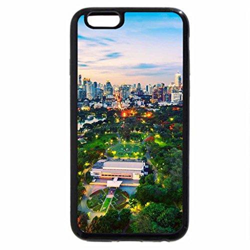 iPhone 6S / iPhone 6 Case (Black) wonderful city park at dusk