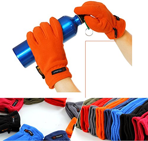 STAR HOME Sports Winter Gloves Outdoor Fleece Warm Gloves 3 Colors