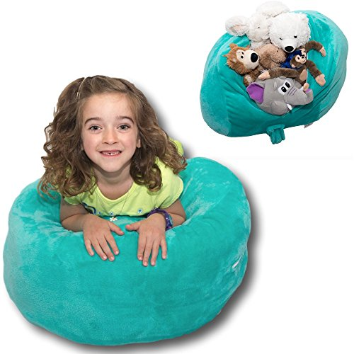 Stuffed-Animal-Storage-Bag-Doubles-As-a-Comfy-Chair-6-Colors-Replace-Your-Mesh-Toy-Hammock-or-Net-with-our-Super-Soft-Organizer-thats-Functional-Fun-Teal-Plush