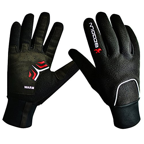 Od-sports Black Full Finger Gloves Warm Winter Thicken Bike Bicycle Glove Thermal Windproof Rainproof Full Finger Cycling Gloves - Triathlon Singapore Ironman