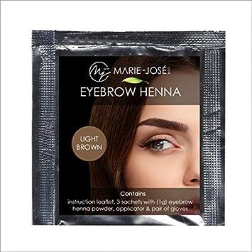 Henna Augenbrauenfarbe Schwarz | Full-Brow-Effekt, auch die Haut wird gefärbt | Henna Brow | Marie-José & Co (Schwarz)