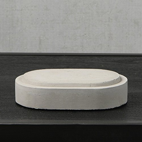Rustic Oval Cement Pedestal Base | Pair 4x6 Minimalist Stone