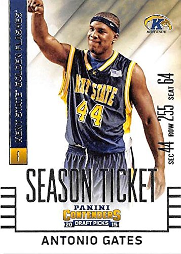 Golden Flashes Basketball - Antonio Gates football card (Kent State Golden Flashes NCAA Basketball San Diego Chargers) 2015 Contenders Draft Picks #14