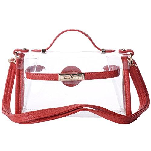 Women's Transparent Clear Waterproof Handbags CrossBody Messenger Shoulder Bag