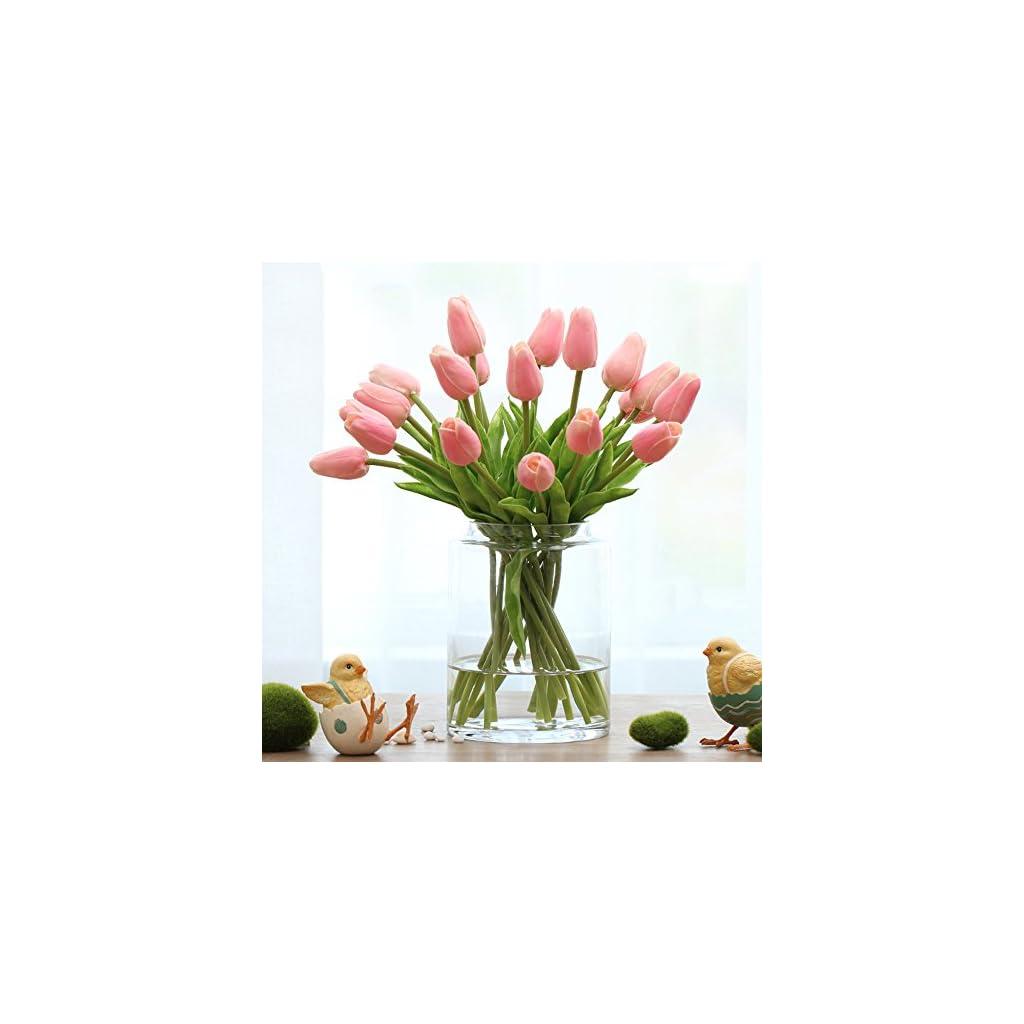 Montout-12PCSSet-PU-Stunning-Holland-Tulip-Flower-Real-Touch-Artificial-Silk-Flowers-Arrangement-Bouquet-Home-Room-Office-Wedding-Party-Decor